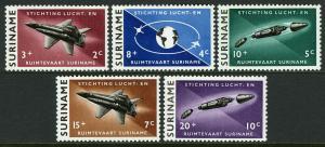 Surinam B99-B103, MNH. Aeronautical & Astronautical Foundation, Plane, 1964