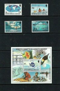 British Antarctic Territory: 1996 The Scientific Research Committee , MNH + M/S