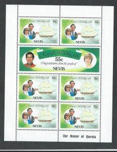 Nevis    sheet  mnh sc#  135 - 140