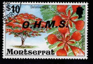 Montserrat Scott o19 used CTO official flower stamp
