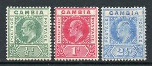 Gambia 1904 EDVII p/set (3v.) wmk MCCA mint