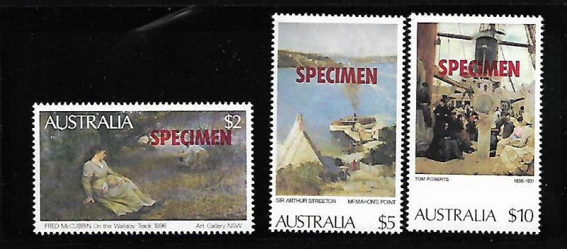 AUSTRALIA 575, 578, 579 MNH HIGH VALUES SPECIMENS