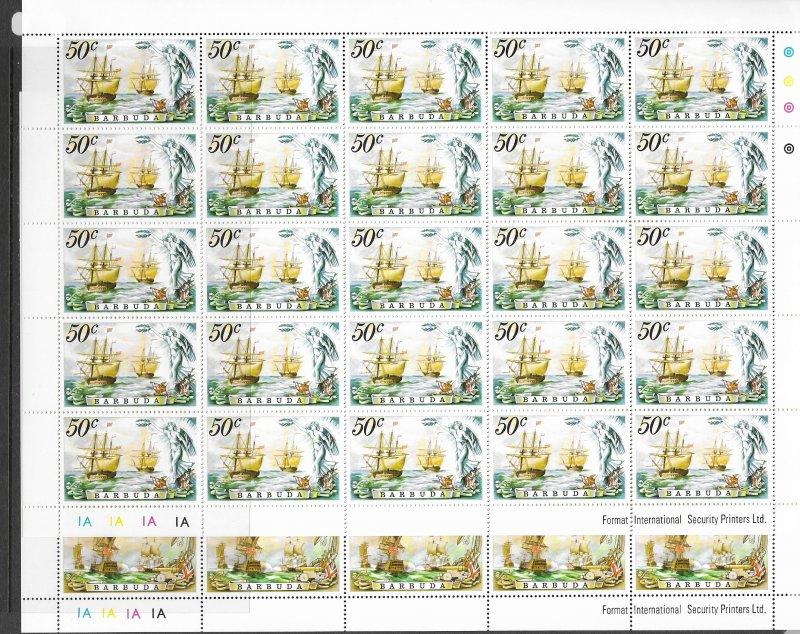 Barbuda 209-12 MNH sheets of 25, cpl set. vf see desc. 2020 CV$112.50