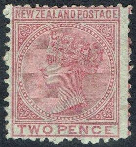 NEW ZEALAND 1874 QV 2D WMK STAR NZ SG TYPE W12A PERF 12.5