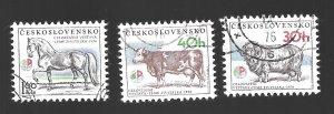 Czechoslovakia #2077-2079  CTO  H  1976