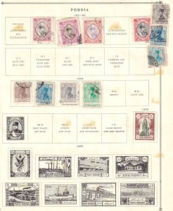 IRAN 2 ALBUM PAGES COLLECTION LOT 25 STAMPS