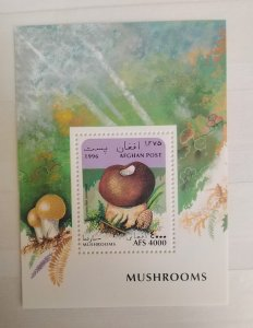 Afghanistan 1996 Umber-brown puffball Souvenir Sheet MNH**