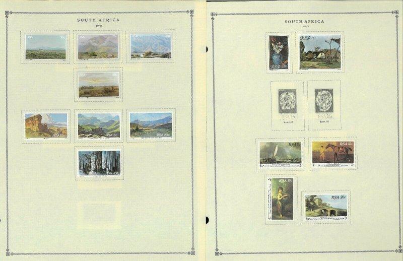 South Africa 1941-1995 M & U Hinged on Scott International Pages Thru 1999