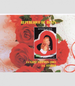 Benin 2003 Valentines Day MARILYN MONROE s/s Perforated Mint (NH)