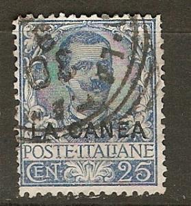 Italy Off Crete 8 SG 8 Used  F/VF 1906 SCV $28.00