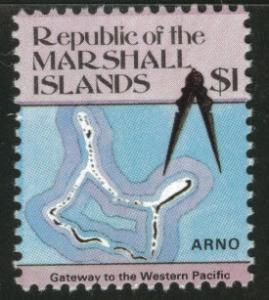 Marshall Islands Scott 49A key map stamp MNH** 1984
