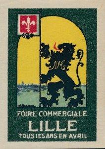 Stamp Label France Exposition Foire Lille Cinderella MNH