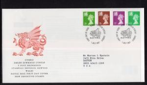 Great Britain Wales Monmouthshire WMMH70,WMMH74,WMMH82,WMMH92 Typed FDC