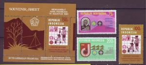 J21102 Jlstamps 1981 indonesia mh set + s/s #1112-5 scouts