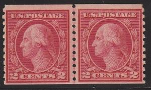 492 Linepair VF-XF OG mint lightly hinged with nice color cv $ 55 ! see pic !