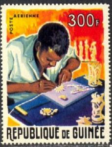 Handicraft, Ivory Carver, Guinea stamp SC#C72 MNH