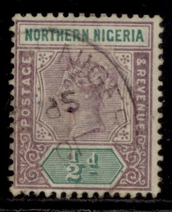 NORTHERN NIGERIA QV SG1, ½d dull mauve & green, USED. Cat £22.