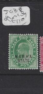 INDIA  NABHA   (P2508B)   KE 38  1/2 A  MOG