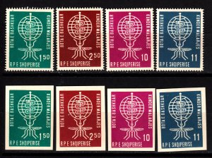 Albania 609-12 mnh sets perf. and imperf.
