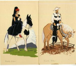 US Cards Original Painted Serigraph Horse