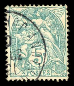 France 113 Used (Type 1B) (Blue Green)