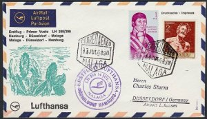SPAIN 1968 Lufthansa first flight cover to Germany.........................H296