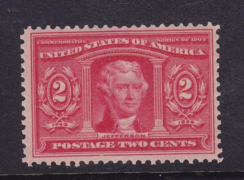 324 VF original gum mint never hinged with nice color cv $ 65 ! see pic !