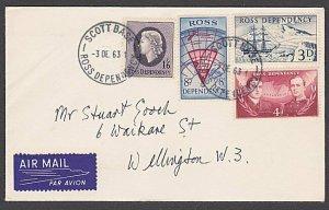 ROSS DEPENDENCY NEW ZEALAND 1963 cover ex Scott Base........................B438