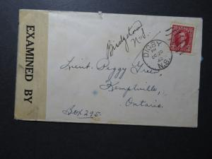 Canada 1942 Digby NS Censor Cover / Sm Top Tear - Z10606