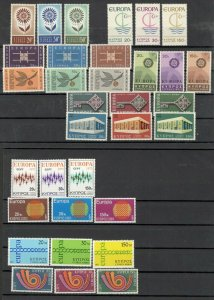 CYPRUS - MNH NICE COLECTION EUROPA  CEPT, PERIOD 1963/1973.