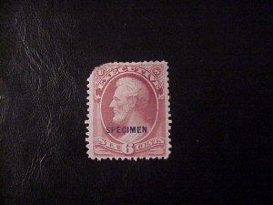 1873 EXECUTIVE SPECIMEN OFFICIAL 6 CENT LINCOLN M/NGAI SCOTT O13S CV 60.00