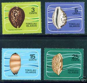 Tokelau Islands Scott 41-4 MNH** shell set CV $7