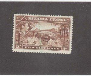 SIERRA LEONE # 183 VF-VERY LIGHTLY USED KGV1 5sh