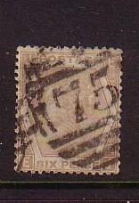 Great Britain Sc59b 1872 6d pale buff Victoria plate 12