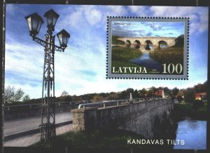 Latvia. 2008. bl 25. Bridges. MNH.