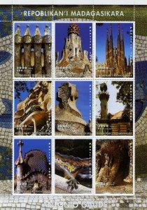 ANTONIO GAUDI BARCELONA ART Sheet Perforated Mint (NH)