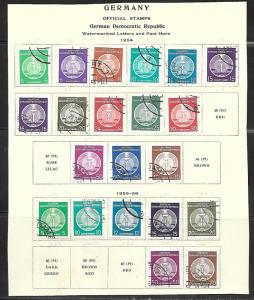 East Germany DDR 1954-6 Official stamps, 21 different, CTO