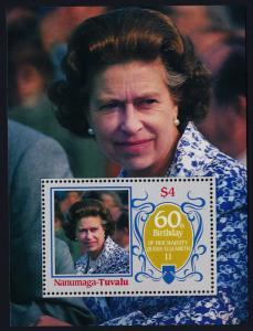 Tuvalu Nanumaga 56 MNH Queen Elizabeth 60th Birthday