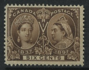 Canada QV 1897 6 cents Jubilee mint o.g.