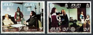 Jersey SC# 229-30 , Europa, Historical Figures, 2 pairs MNH
