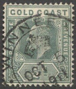 GOLD COAST 1909 Sc 56a, Used 1/2d KE with WINNEBAH 1911 cancel
