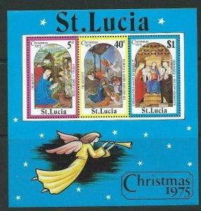ST.LUCIA SGMS405 1975 CHRISTMAS MNH