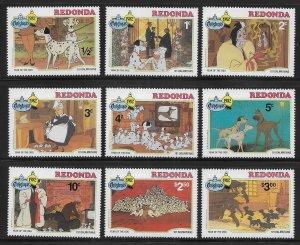 Redonda Disney 1982 Christmas 101 Dalmatians MNH