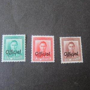 New Zealand 1938 Sc O72-O74 set of 3 MH
