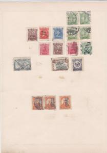 mexico stamps on 1 album page ref 13467