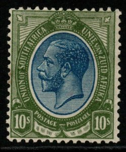 SOUTH AFRICA SG16 1913 10/= DEEP BLUE & OLIVE-GREEN MTD MINT