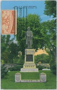 37224   MAXIMUM CARD - USA : KANSAS centenary 1954