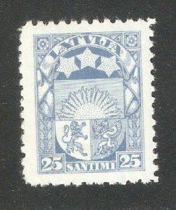 Latvia 1925, Coat of Arms, 25c Scott # 122, VF Mint Hinged*
