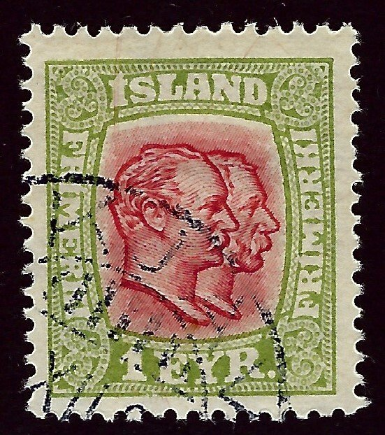 Iceland SC#99 Used F-VF SCV$20.00...Worth a Close look!!