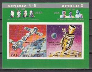 Yemen Arab Rep., Mi cat. 918, BL99 B. Apollo-Soyuz s/sheet. *